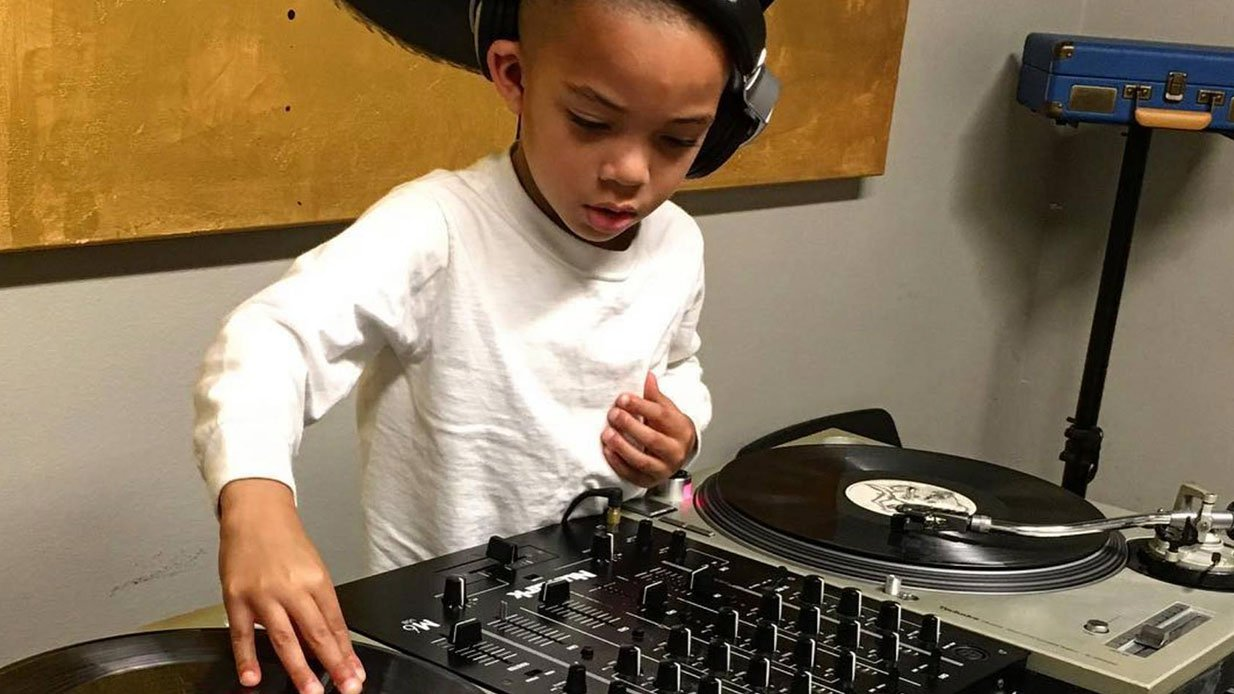 little kid dj